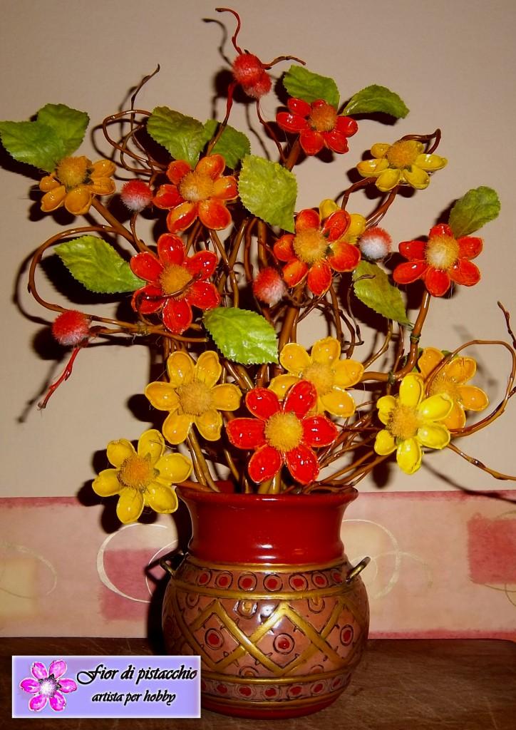 Arredamento casa composizioni floreali fatte a mano fior di pistacchio - Idee regalo per la casa originali ...