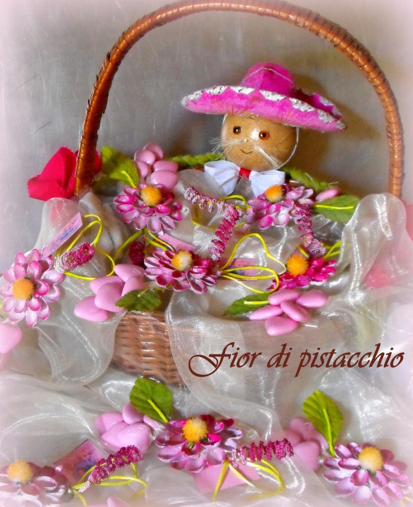 Amato Bomboniere nascita e battesimo – rosa | Fior di pistacchio VA37