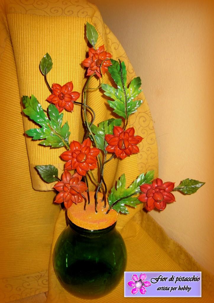 Arredamento casa decorazioni vasi con fiori fatti a mano - Vasi per arredo casa ...