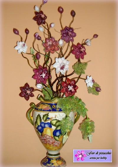 Arredamento Casa Decorazioni Vasi Con Fiori Fatti A Mano